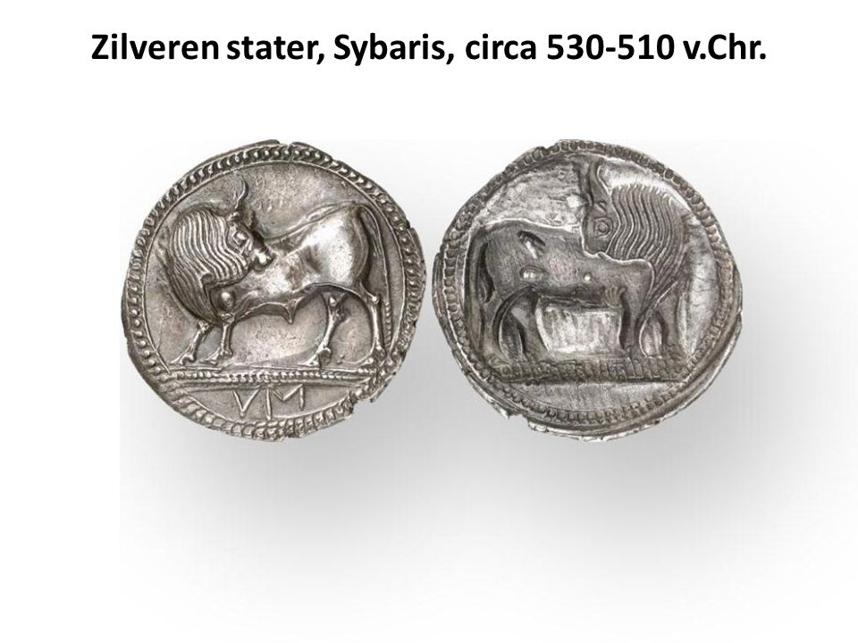 Zilveren stater, Sybaris, circa 530-510 v.Chr.