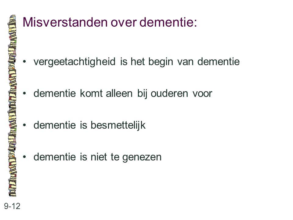 Misverstanden over dementie: