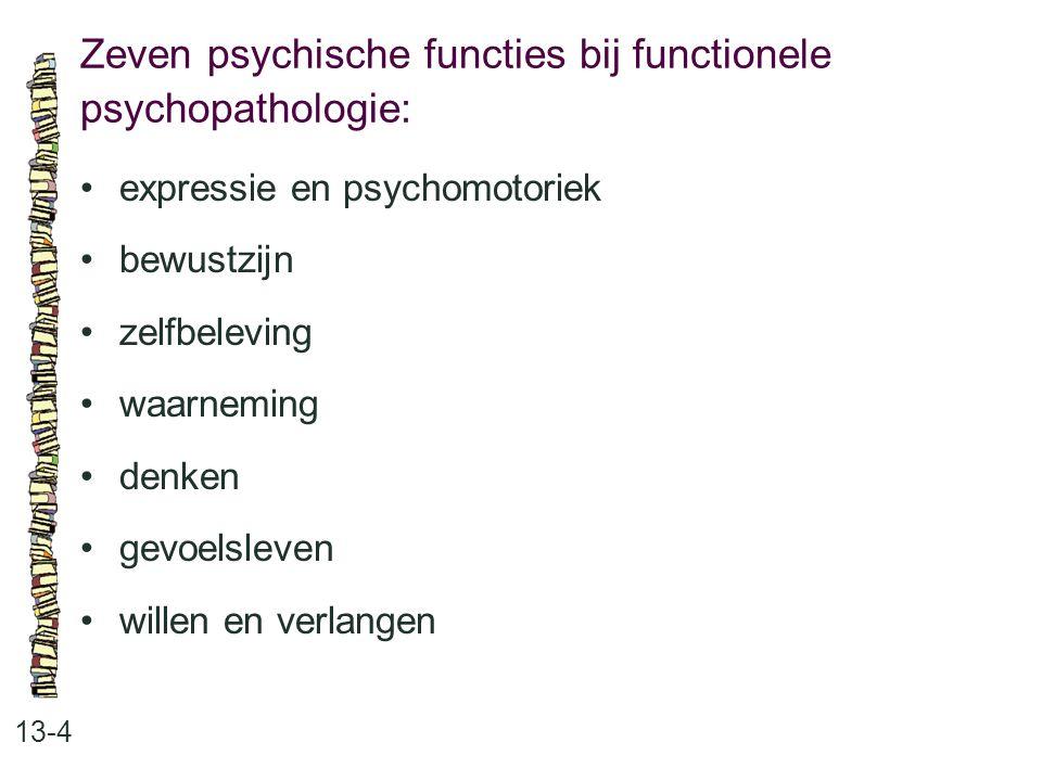 Zeven psychische functies bij functionele psychopathologie: