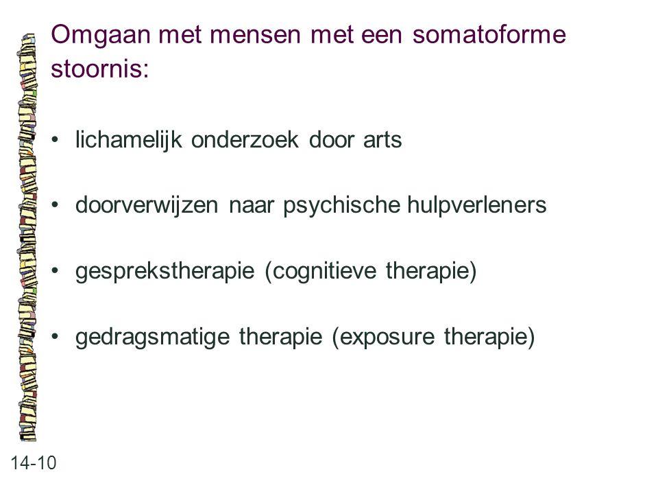 Omgaan met mensen met een somatoforme stoornis: