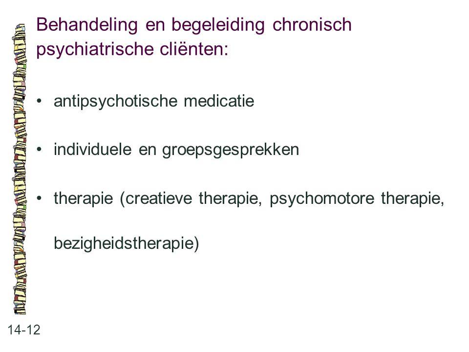 Behandeling en begeleiding chronisch psychiatrische cliënten: