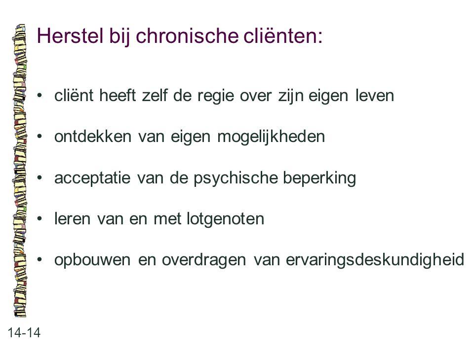 Herstel bij chronische cliënten: