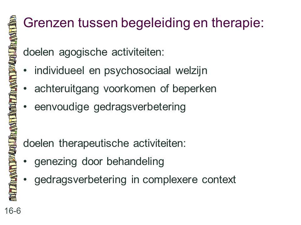 Grenzen tussen begeleiding en therapie: