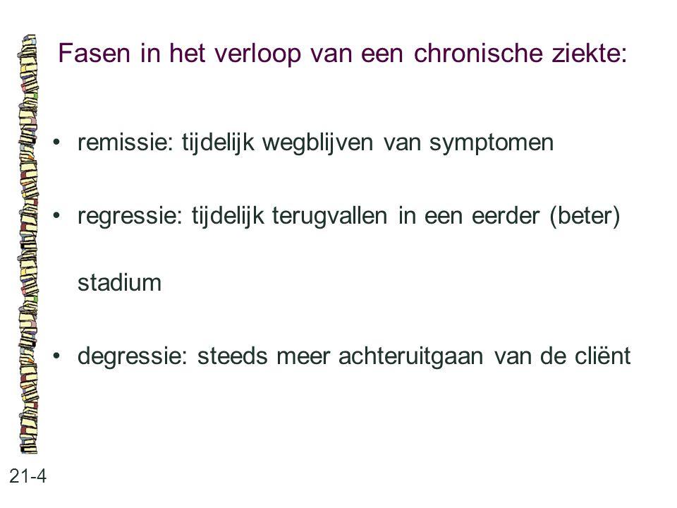 Fasen in het verloop van een chronische ziekte: