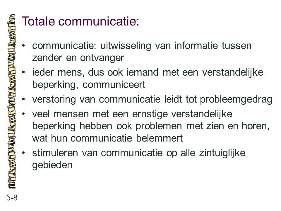 Totale communicatie: • communicatie: uitwisseling van informatie tussen zender en ontvanger.