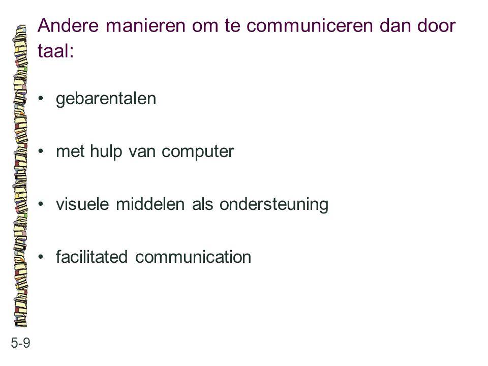 Andere manieren om te communiceren dan door taal: