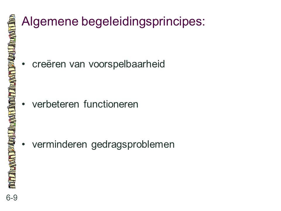 Algemene begeleidingsprincipes: