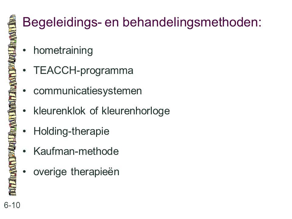 Begeleidings- en behandelingsmethoden: