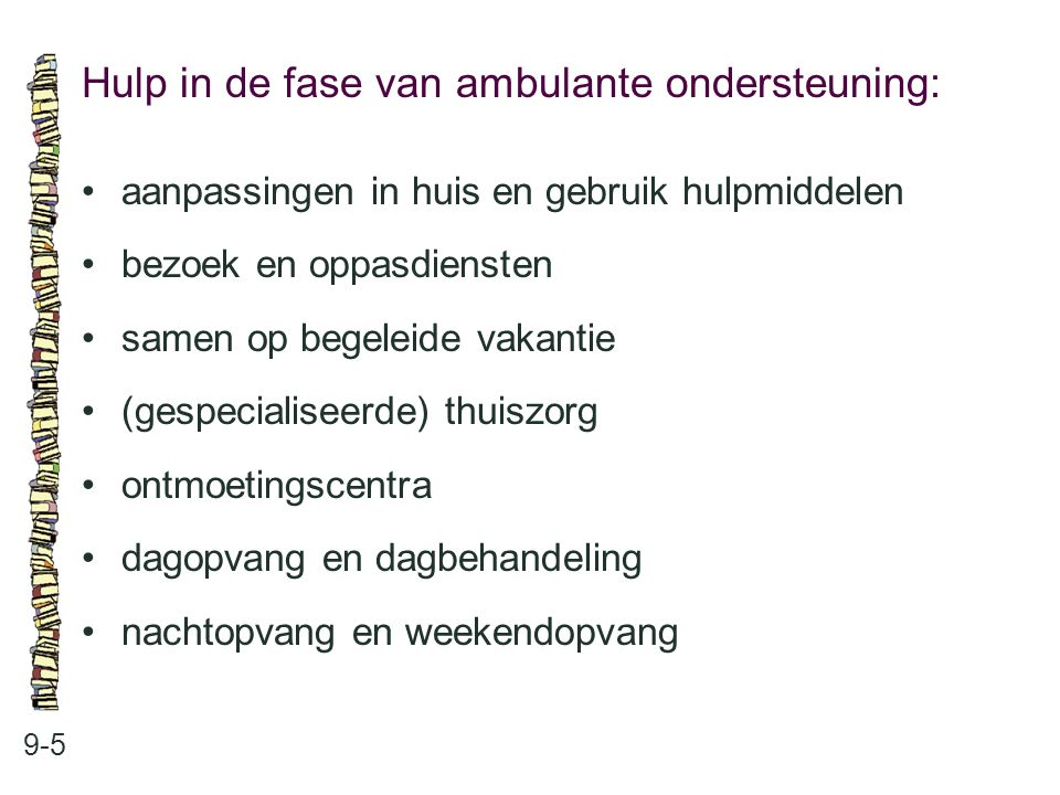Hulp in de fase van ambulante ondersteuning: