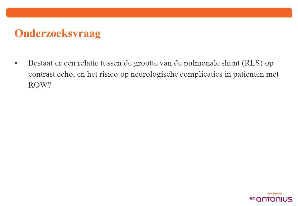 Methode 723 personen gescreend voor ROW 678 personen met CE