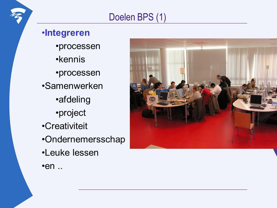Doelen BPS (1) Integreren processen kennis Samenwerken afdeling