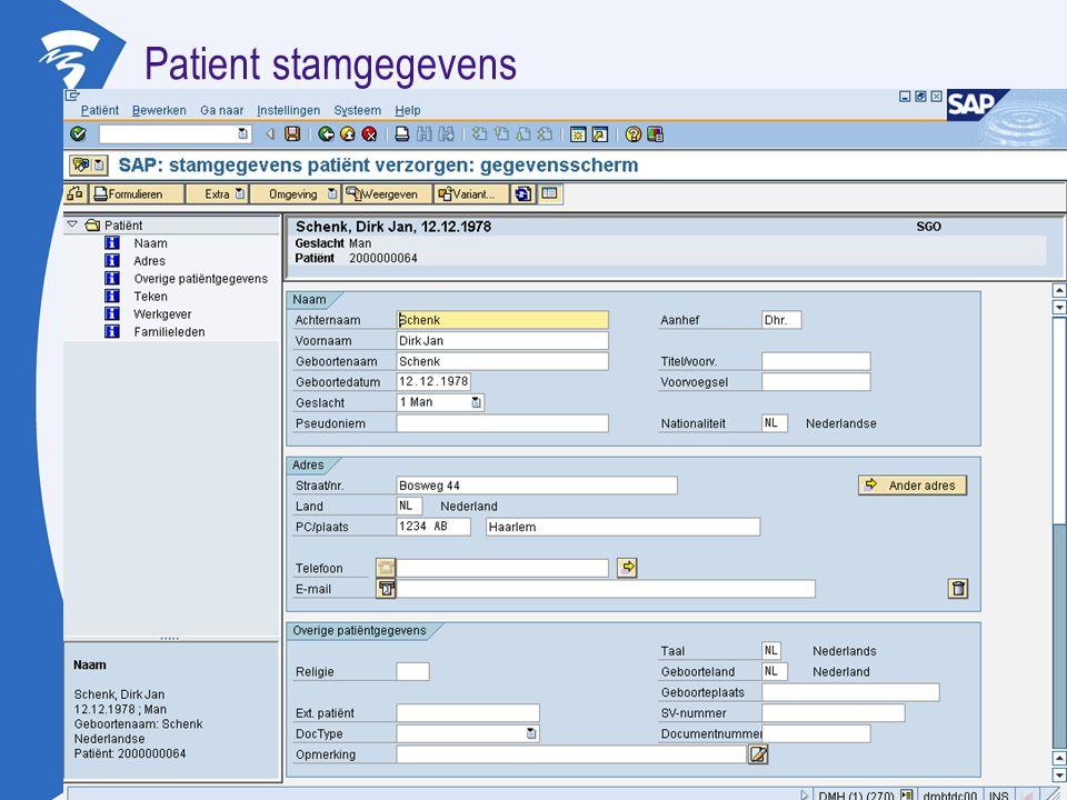 Patient stamgegevens