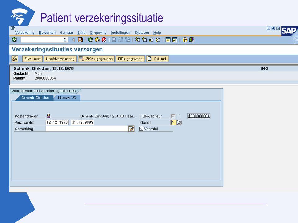 Patient verzekeringssituatie