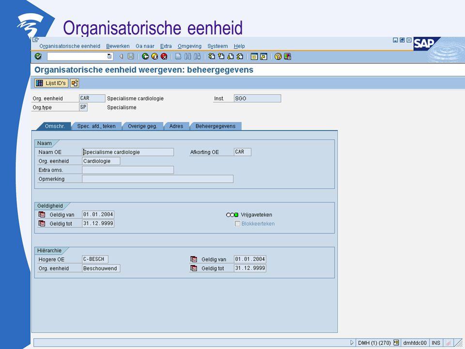 Organisatorische eenheid