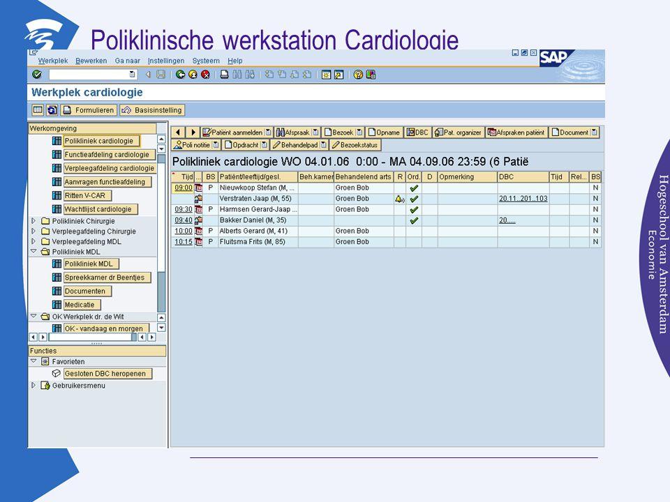 Poliklinische werkstation Cardiologie