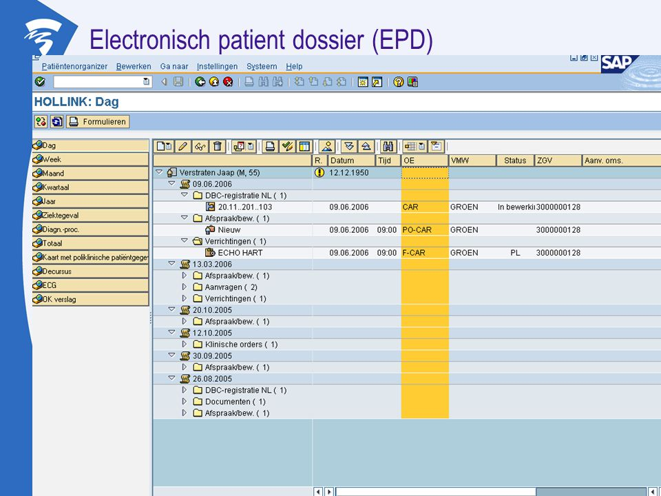 Electronisch patient dossier (EPD)