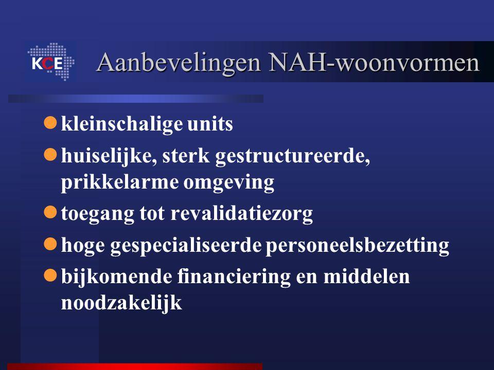 Aanbevelingen NAH-woonvormen
