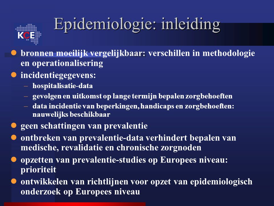 Epidemiologie: inleiding