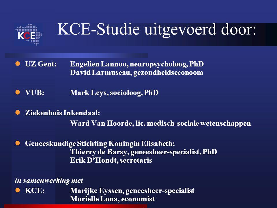 KCE-Studie uitgevoerd door: