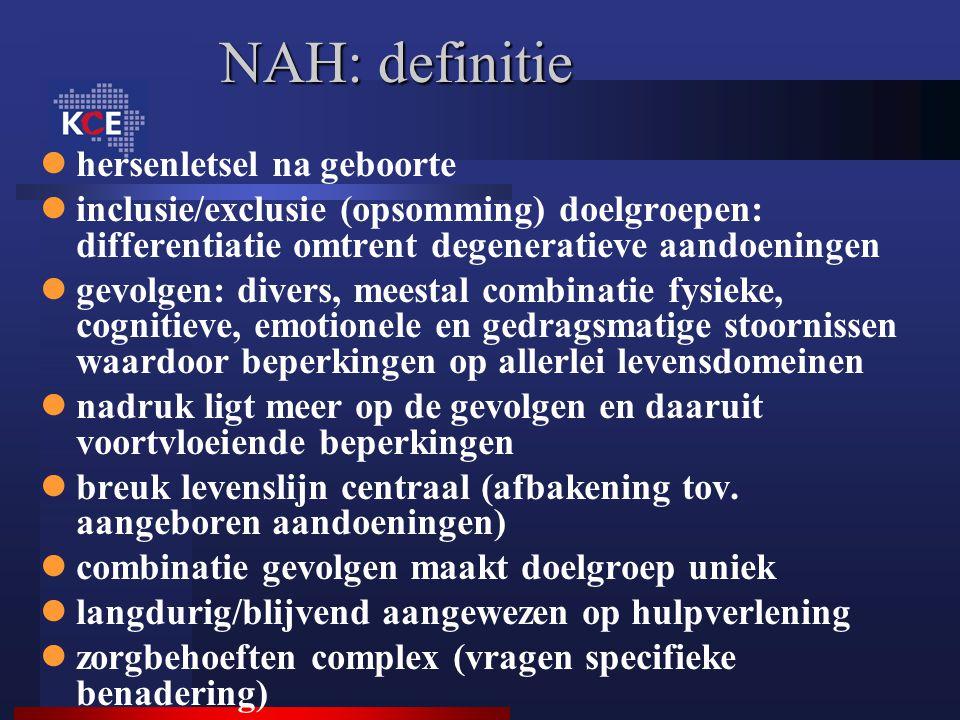 NAH: definitie hersenletsel na geboorte