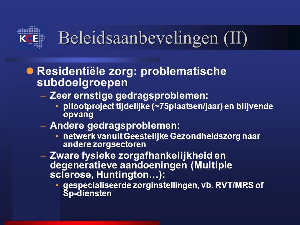 Beleidsaanbevelingen (II)