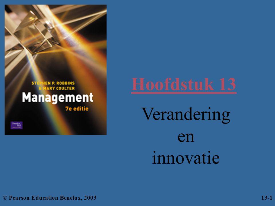 Hoofdstuk 13 Verandering en innovatie