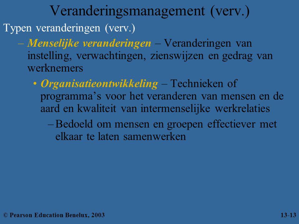 Veranderingsmanagement (verv.)