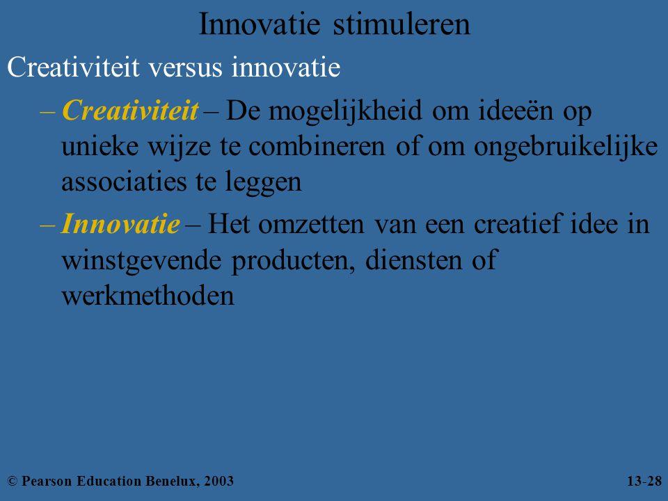 Innovatie stimuleren Creativiteit versus innovatie