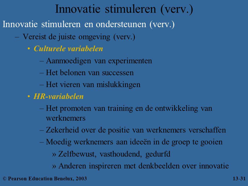 Innovatie stimuleren (verv.)