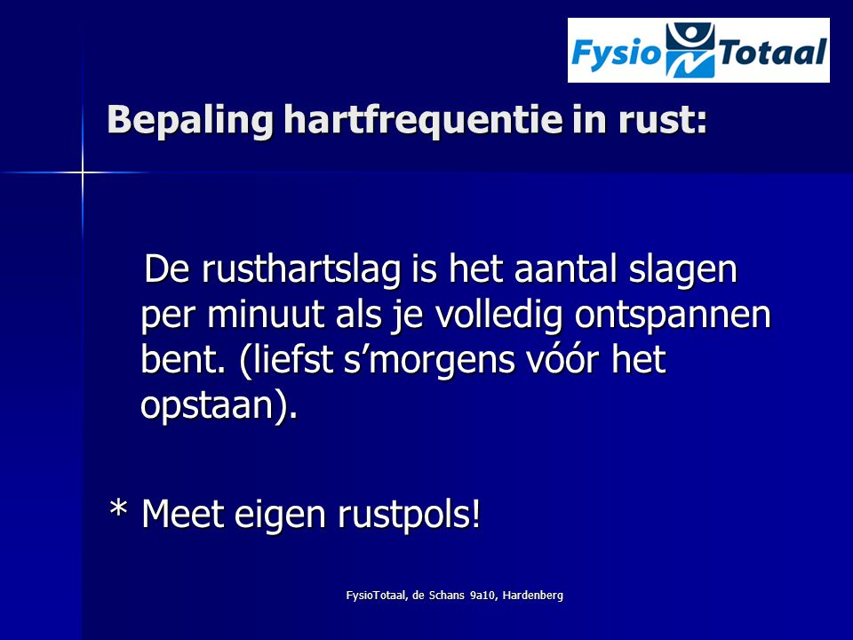 Bepaling hartfrequentie in rust: