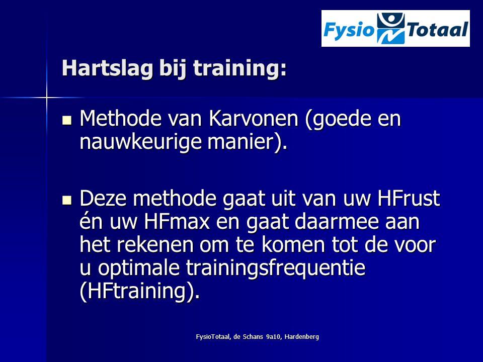 Hartslag bij training: