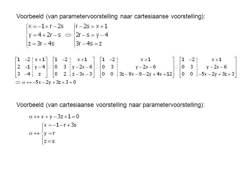 Voorbeeld (van parametervoorstelling naar cartesiaanse voorstelling):