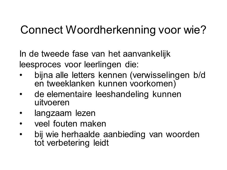 Connect Woordherkenning voor wie