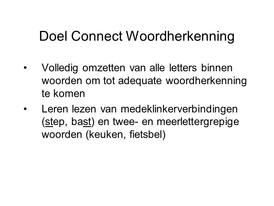 Doel Connect Woordherkenning