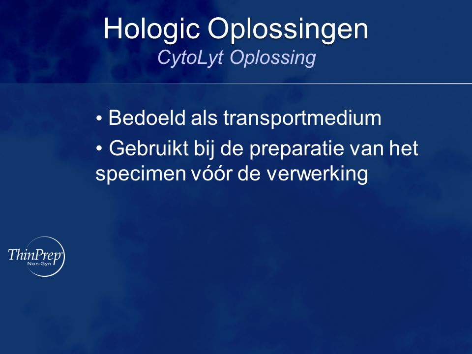 Hologic Oplossingen CytoLyt Oplossing
