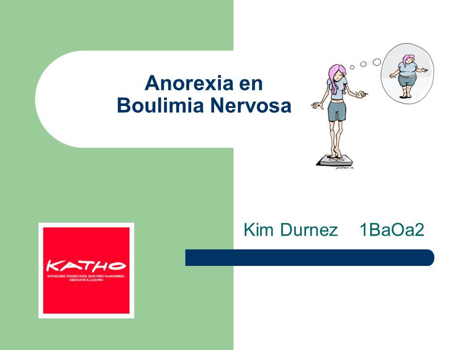 Anorexia en Boulimia Nervosa