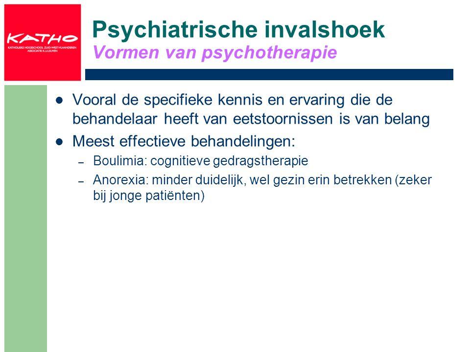 Psychiatrische invalshoek Vormen van psychotherapie