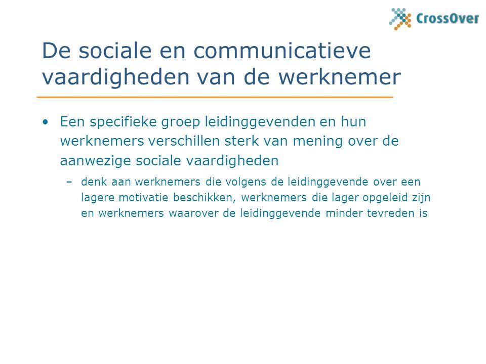 De sociale en communicatieve vaardigheden van de werknemer
