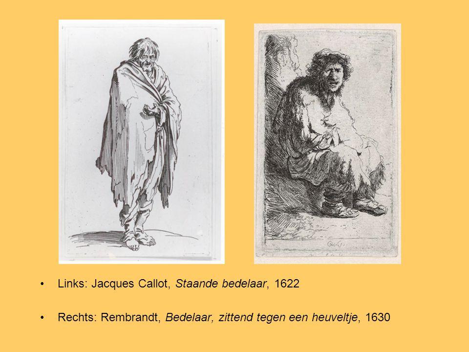 Links: Jacques Callot, Staande bedelaar, 1622