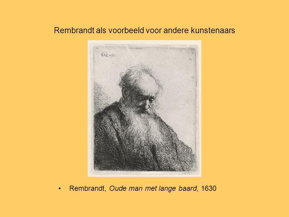 Rembrandt als voorbeeld voor andere kunstenaars