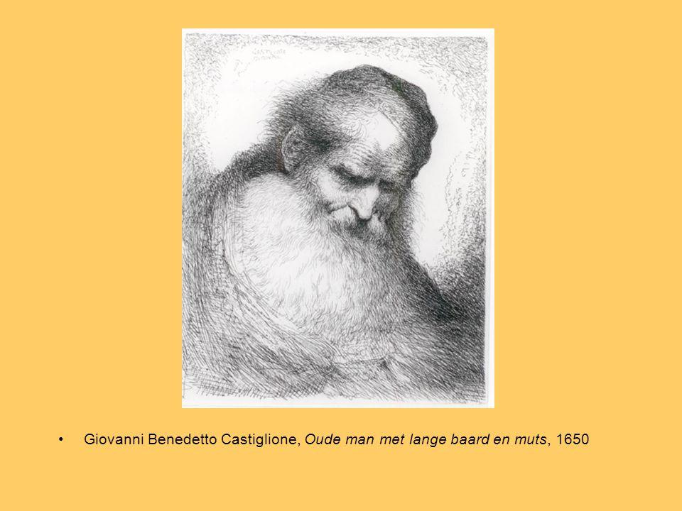 Giovanni Benedetto Castiglione, Oude man met lange baard en muts, 1650