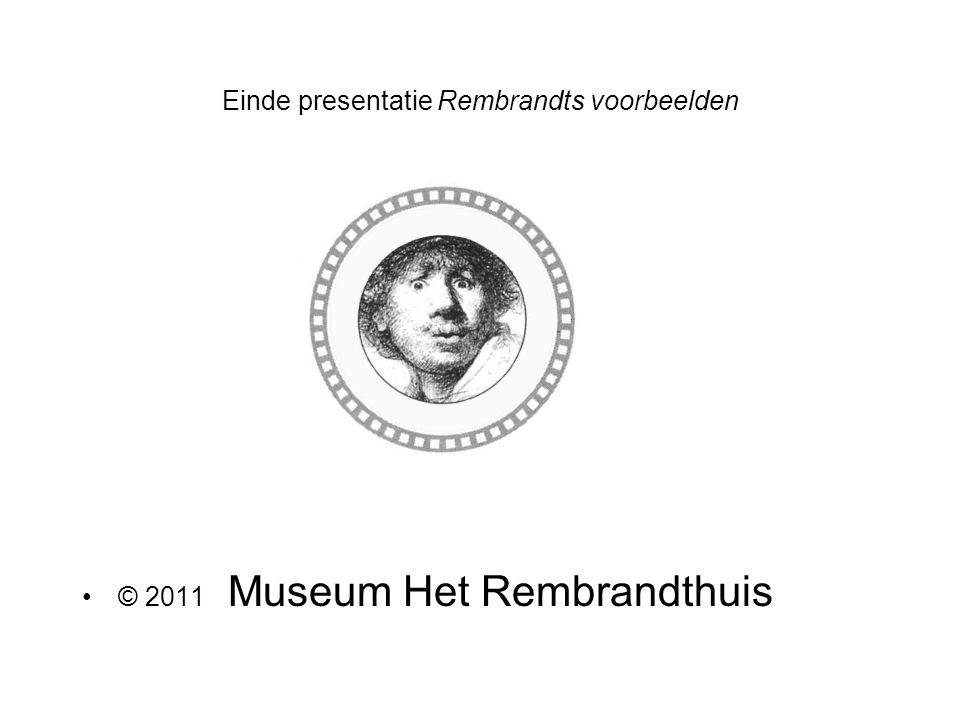Einde presentatie Rembrandts voorbeelden