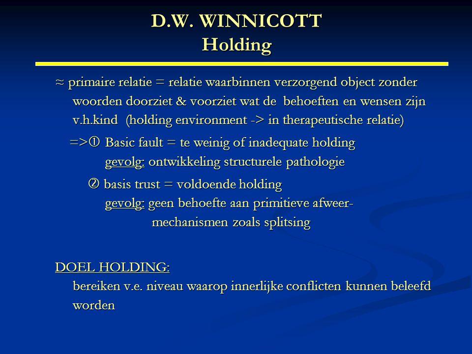 D.W. WINNICOTT Holding