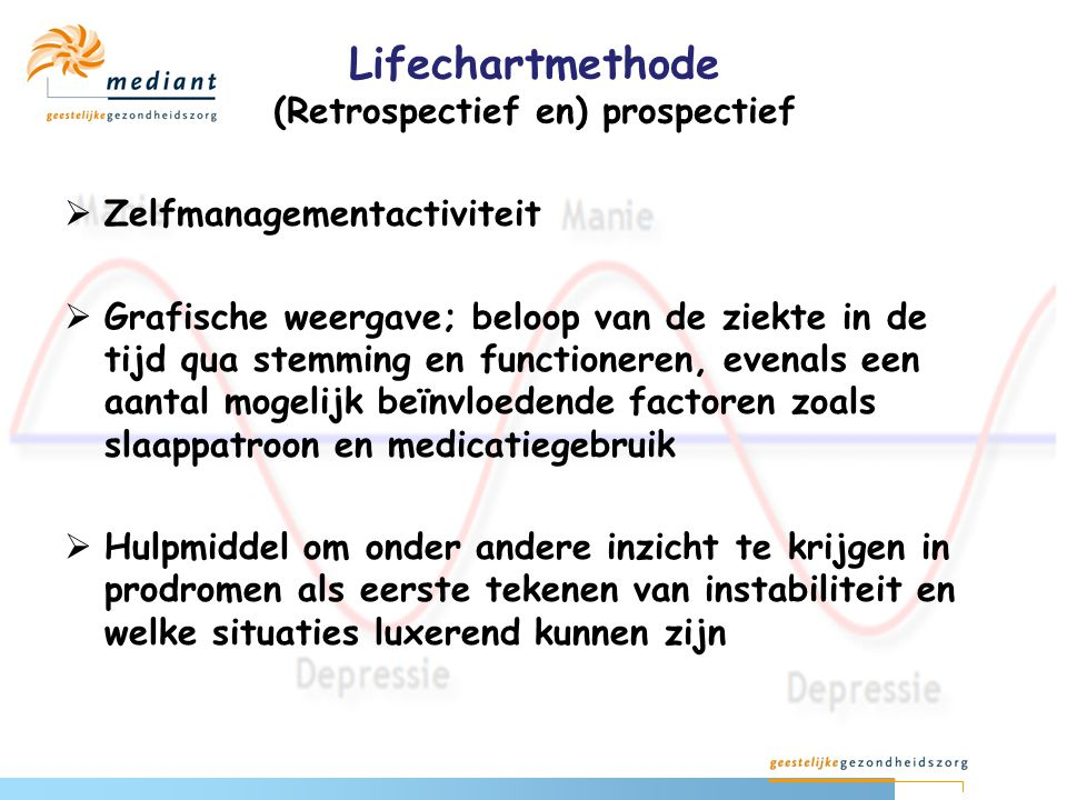 Lifechartmethode (Retrospectief en) prospectief