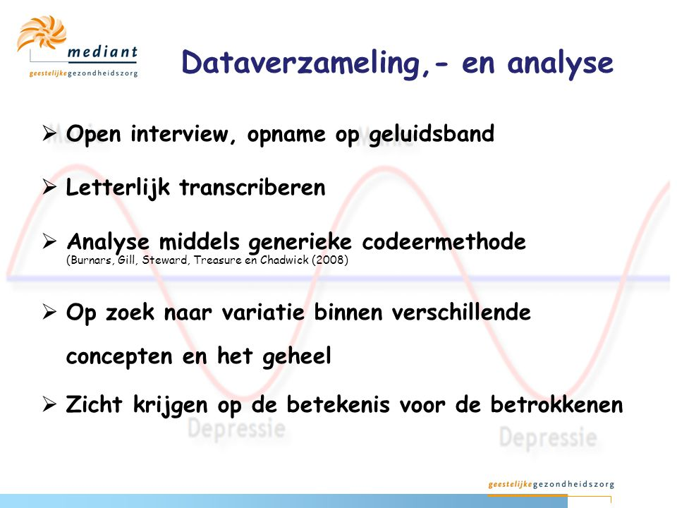 Dataverzameling,- en analyse