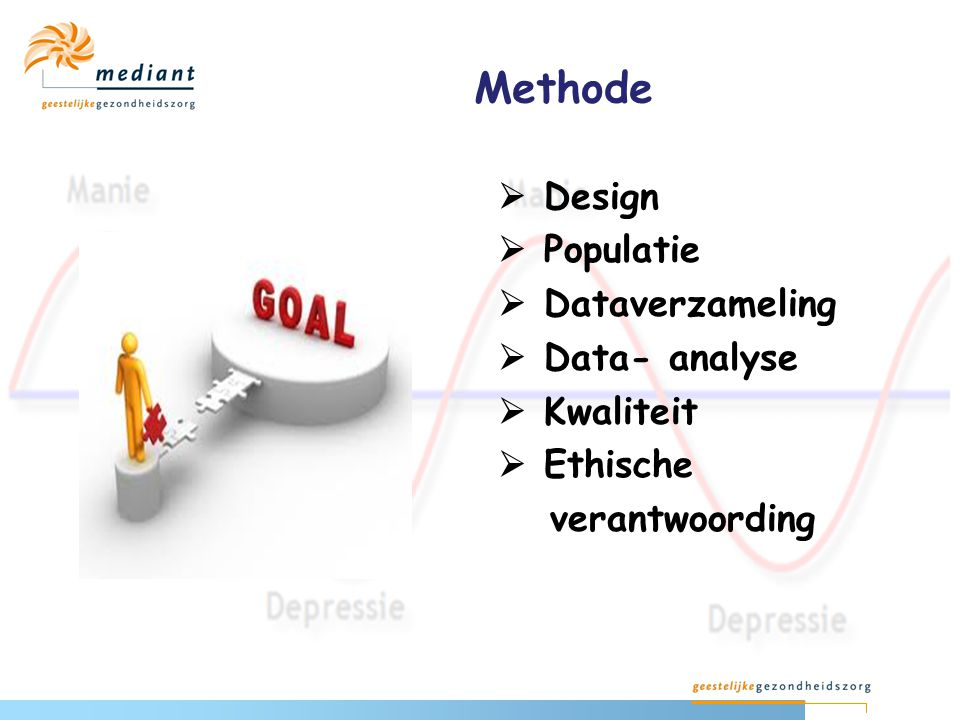 Methode  Design  Populatie  Dataverzameling  Data- analyse