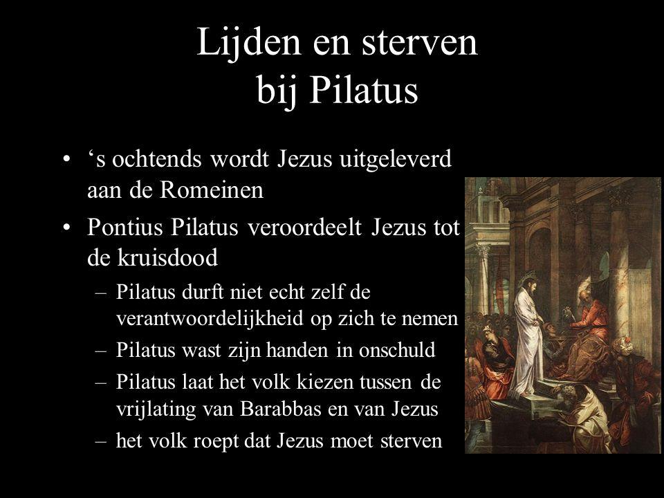 Lijden en sterven bij Pilatus