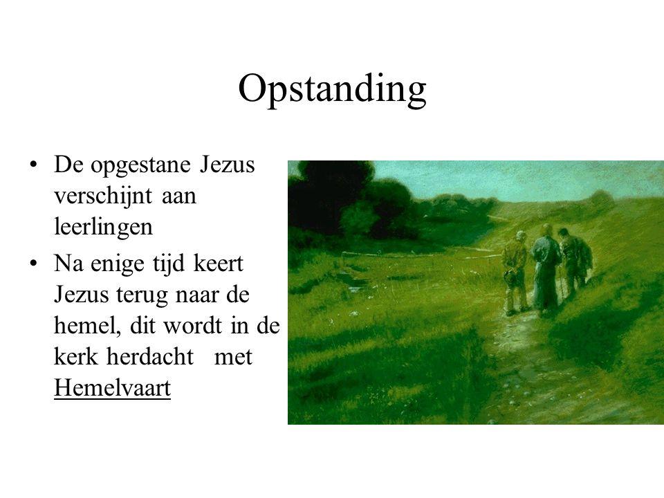 Opstanding De opgestane Jezus verschijnt aan leerlingen