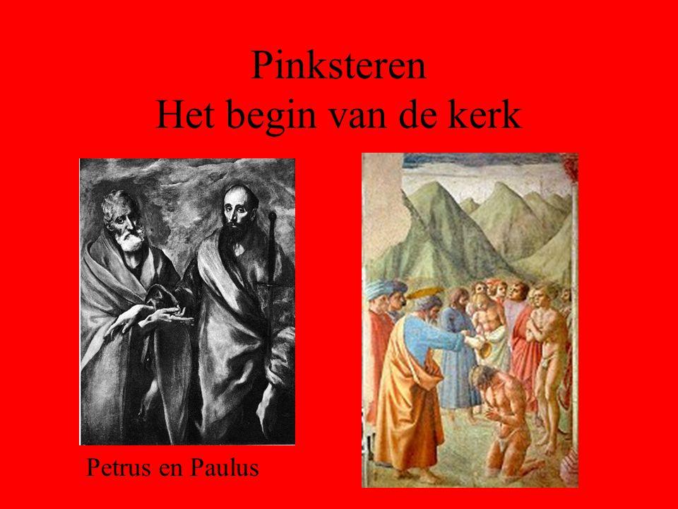 Pinksteren Het begin van de kerk