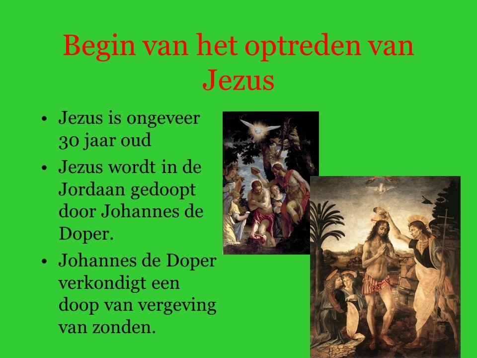 Begin van het optreden van Jezus